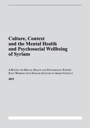 Culture, context and the mental health and psychosocial wellbeing of Syrians